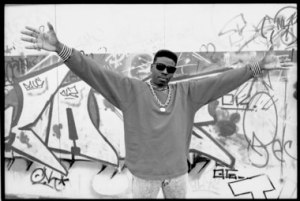 Schooly D  on Harrow Road, London 1985